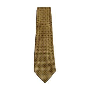 Jos. A. Banks Silk Tie Yellow Gold Blue Dots